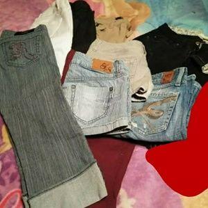 Size 3/4 Lot skinny pants crop shorts&bermuda